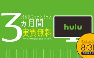 NCVではじめよう!hulu最大3ヶ月無料