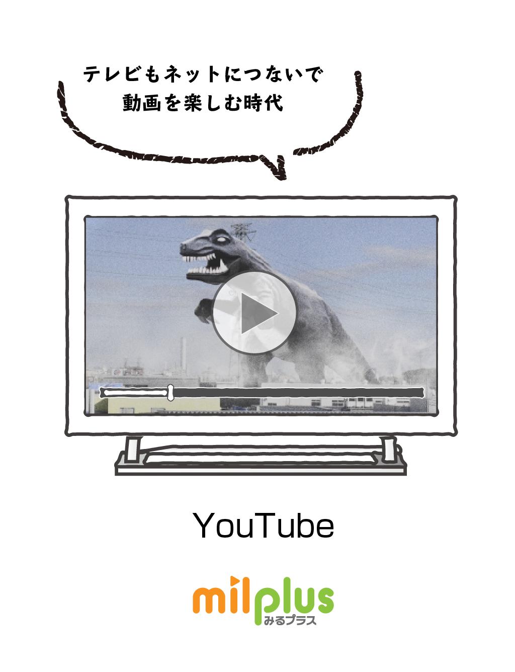 テレビもネットにつないで動画を楽しむ時代